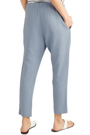 BASSIKE Cropped twill tapered pants