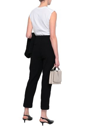 VINCE. Cropped belted twill tapered pants