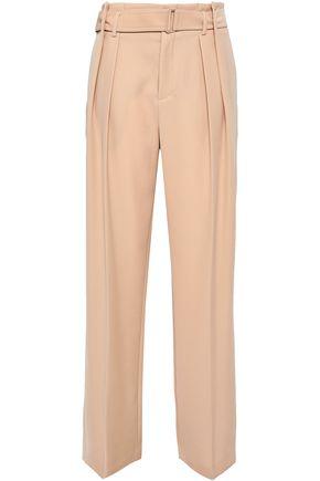 VINCE. Belted crepe wide-leg pants