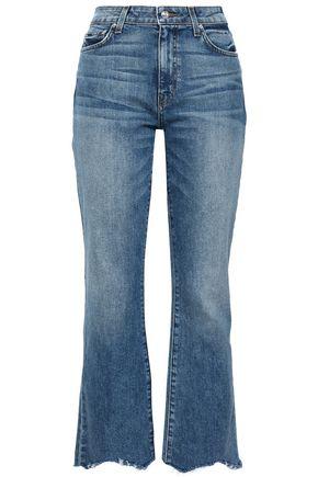 DEREK LAM Frayed high-rise kick-flare jeans