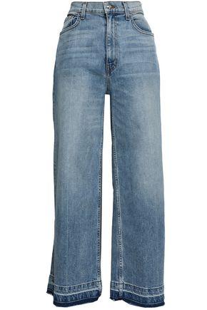 DEREK LAM Frayed high-rise wide-leg jeans