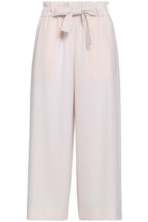VINCE. Belted crepe culottes