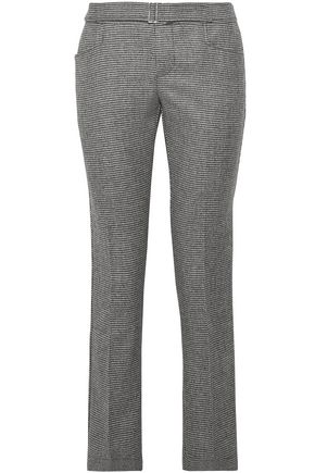 SIMON MILLER Hazen houndstooth wool-blend straight-leg pants