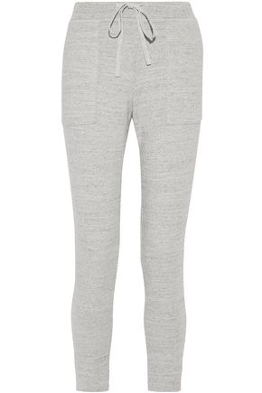 JAMES PERSE French cotton-terry tapered pants