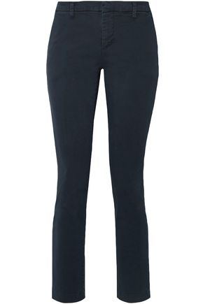 J BRAND Stretch-cotton gabardine straight-leg pants