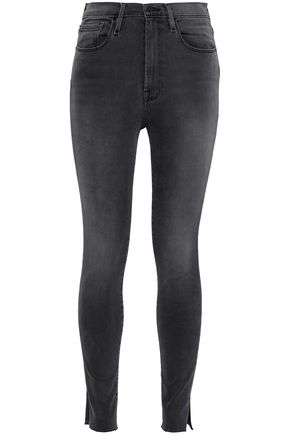 FRAME Ali faded high-rise skinny jeans