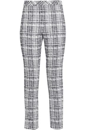 ROSETTA GETTY Cotton-blend tweed skinny pants