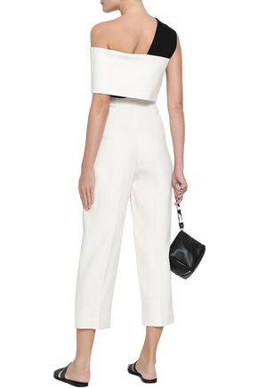 ROSETTA GETTY Cropped tweed tapered pants