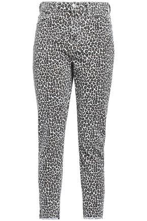 CURRENT/ELLIOTT Leopard-print high-rise skinny jeans
