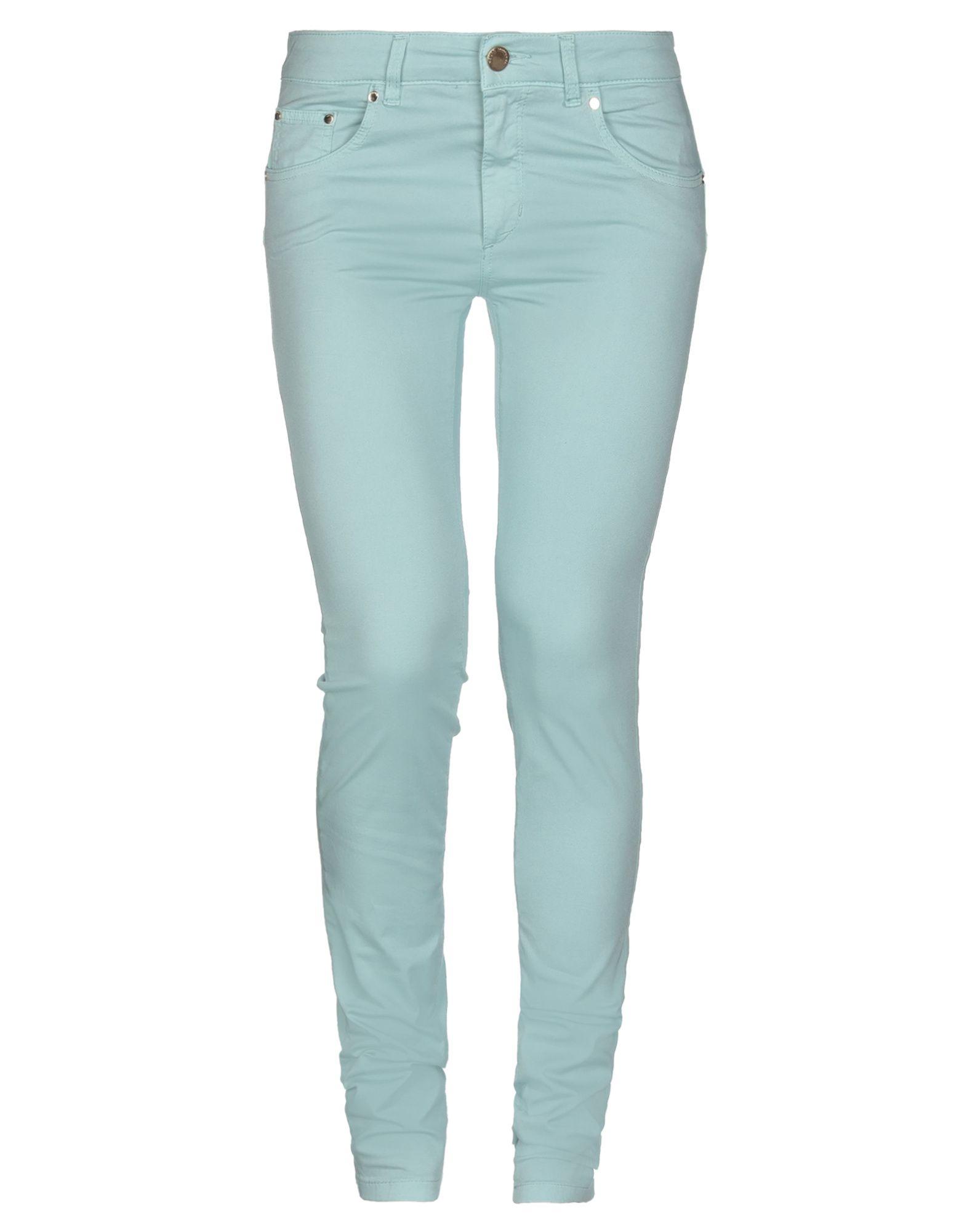 NO LAB Повседневные брюки no 21 голубые брюки из хлопка