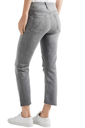 MOTHER The Insider distressed high-rise kick-flare jeans
