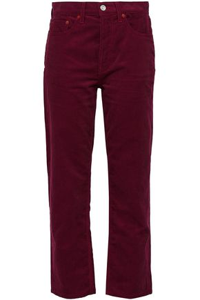 RE/DONE Cotton-corduroy straight-leg pants