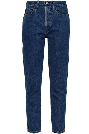 RE/DONE Cropped high-rise straight-leg jeans