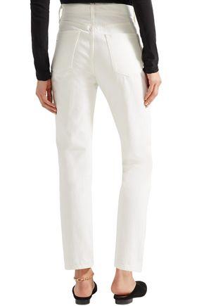 GOLDSIGN High-rise straight-leg jeans