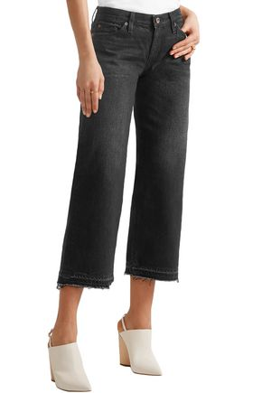 SIMON MILLER Bora cropped mid-rise wide-leg jeans