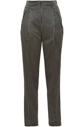 ETRO Striped faille straight-leg pants