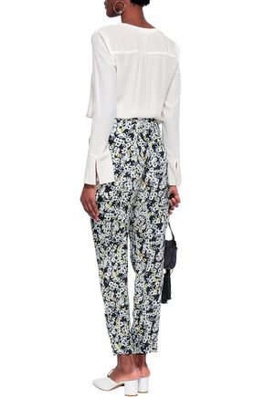 SEE BY CHLOÉ Floral-print crepe tapered pants