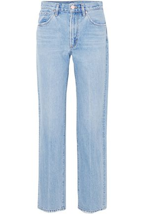 GOLDSIGN High-rise straight-leg jeans