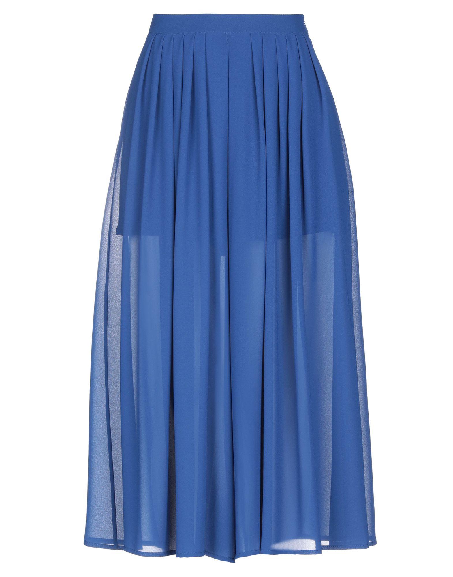 《期間限定セール開催中!》PAOLA PRATA レディース 7分丈スカート ブライトブルー 46 ポリエステル 100% / ポリウレタン