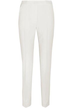 ROKSANDA Satin-trimmed crepe tapered pants