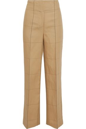 BY MALENE BIRGER Illari checked woven wide-leg pants