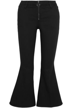FRAME Zip-detailed mid-rise kick-flare jeans