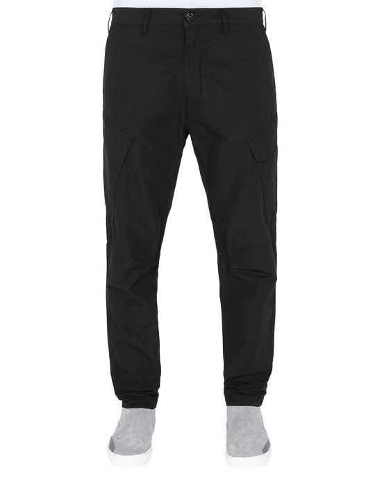 STONE ISLAND SHADOW PROJECT TROUSERS 30308 ADJUSTABLE CARGO TROUSERS WITH ARTICULATION TUNNELS (COTTON LINEN CANVAS)