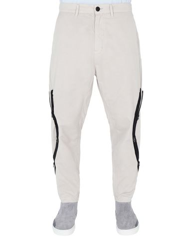 30109 ADJUSTMENT ZIP UP TROUSERS (BRUSHED COTTON SATIN)