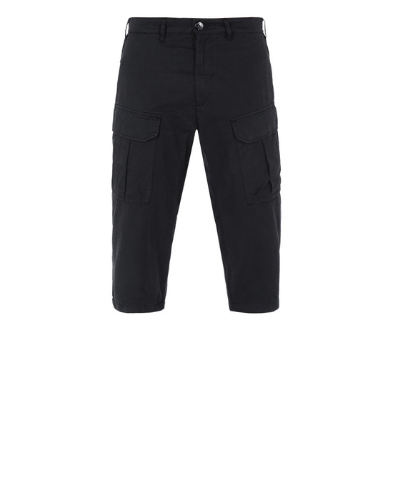 STONE ISLAND SHADOW PROJECT TROUSERS 30409 CROPPED CARGO TROUSERS (BRUSHED COTTON SATIN)