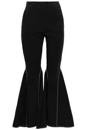 BEAUFILLE Stretch-cotton gabardine flared pants