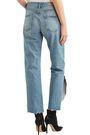 GRLFRND Distressed mid-rise straight-leg jeans