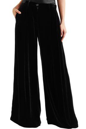 NILI LOTAN Velvet wide-leg pants