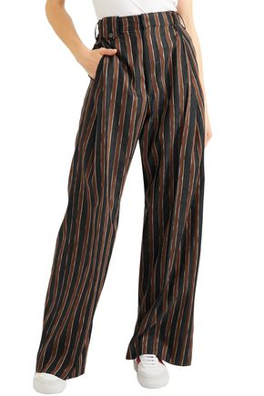 GOLDEN GOOSE DELUXE BRAND Berta striped alpaca-blend jacquard wide-leg pants