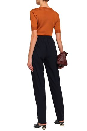 JIL SANDER Wool-blend crepe straight-leg pants