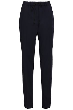 JIL SANDER Wool-blend crepe straight-leg pants