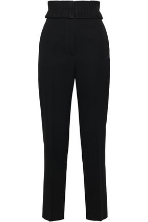 JIL SANDER Wool and silk-blend faille straight-leg pants