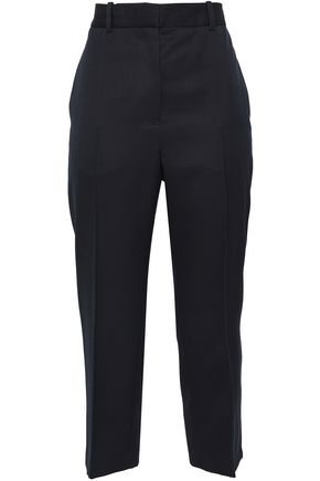 JIL SANDER Cropped wool-twill straight-leg pants
