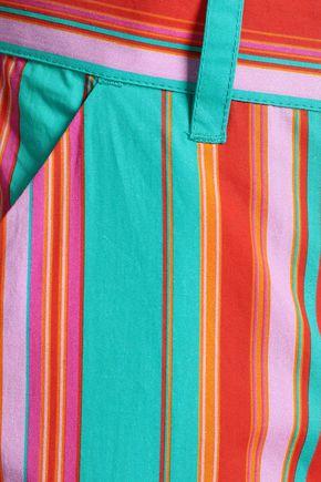 FIGUE Zuri tasseled cropped cotton-poplin tapered pants