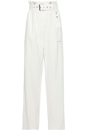 3.1 PHILLIP LIM Belted pinstriped twill wide-leg pants