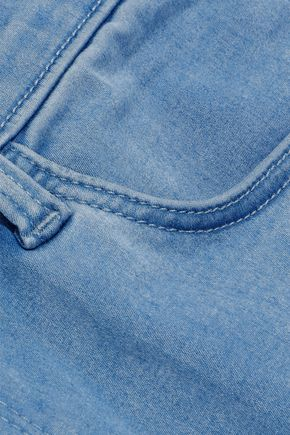 J BRAND Alana distressed brushed mid-rise skinny jeans
