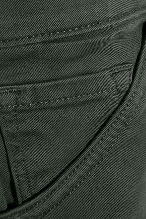 J BRAND Ruby Painter cropped cotton-blend twill slim-leg pants