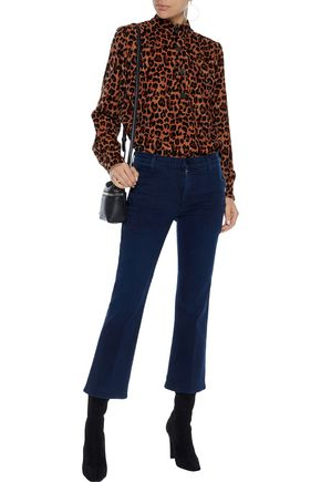 J BRAND Zion button-detailed mid-rise kick-flare jeans