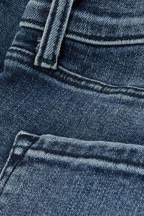 J BRAND Maria distressed high-rise skinny jeans