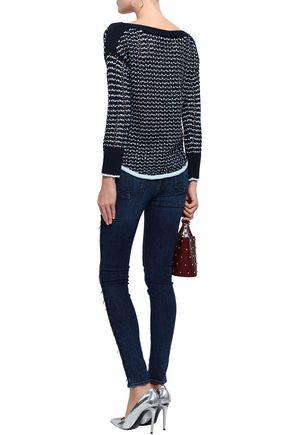 RAG & BONE Distressed high-rise skinny jeans