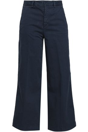 REDValentino Cropped cotton-blend twill flared pants