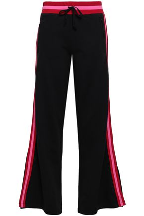 JOIE French cotton-blend terry wide-leg pants