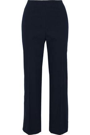 DELPOZO Cropped cotton-canvas straight-leg pants