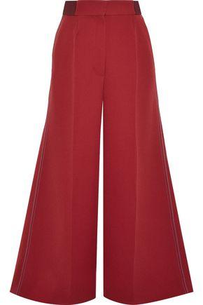 ROKSANDA Tamako cropped crepe wide-leg pants