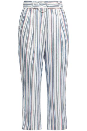 CLAUDIE PIERLOT Pohana striped twill flared pants