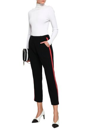 CLAUDIE PIERLOT Paradoxe cropped striped crepe pants